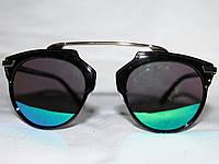 Очки в стиле Диор So Real 6209 золото зеленый зеркальные