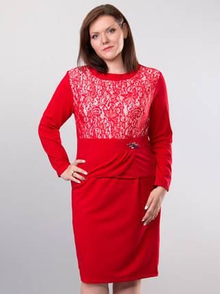 Красивое женское платье с гипюром 56 размер батал, фото 2