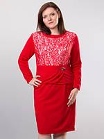 Красивое женское платье с гипюром 56 размер батал
