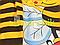 """Комплект для новорожденного """"Пчелка""""  (бодик+штанишки+шапочка) 62 р, фото 2"""
