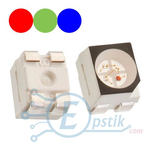 Светодиод 3528 RGB (красный/зеленый/синий), ОА, SMD