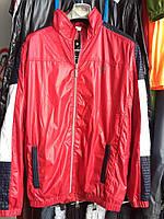 Мужская куртка ветровка красная  48-54р.
