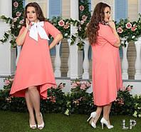 Женское платье с асимметричным низом Батал