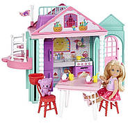 Дом развлечений с лифтом Челси Барби  Barbie Club Chelsea Playhouse DWJ50