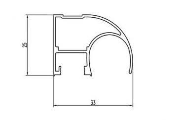 Вертикальный профиль SLIPP С-22 серебро открытый, фото 2