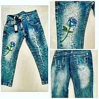 Модные джинсы с вышивкой для девочек от 3 до 10 лет
