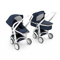 Greentom - Детская коляска Upp 2 в 1, цвет синий - белое шасси