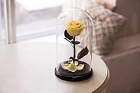 Роза в Колбе Желтый Топаз 5 карат