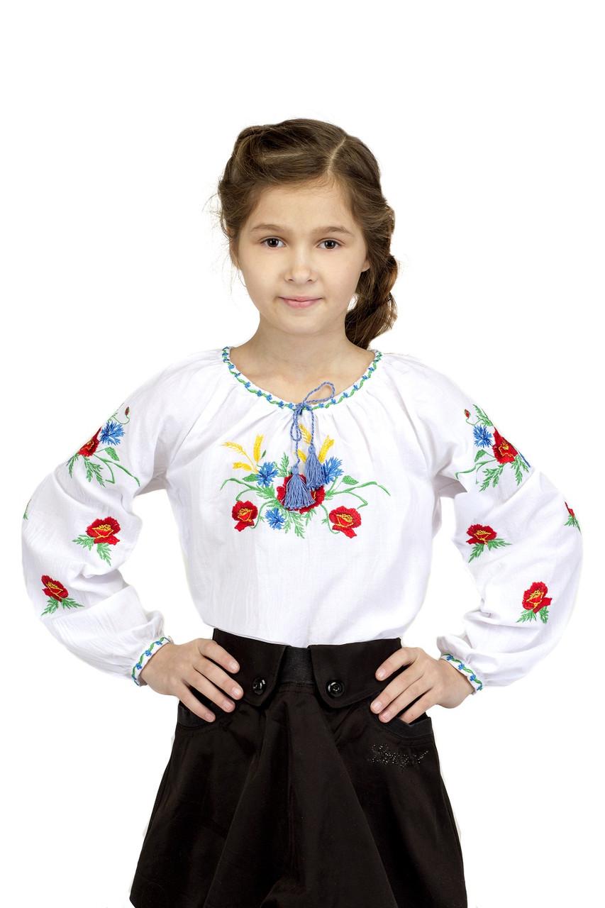 Вышиванка для девочки Васильковое поле
