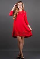 Женское ассиметричное платья Летисия цвет красный размер 44-52