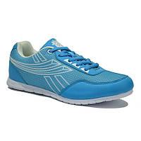 Яркие голубые кроссовки женские сетка для фитнеса
