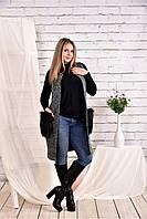 Женская накидка из букле 0470 цвет серый размер 42-74