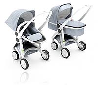 Greentom - Детская коляска Upp 2 в 1, цвет светло-серый - белое шасси