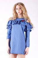 Летнее короткое джинсовое платье Ф-7., фото 1