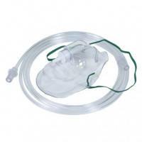 Маска кислородная для взрослых с носовым зажимом и воздушным шлангом