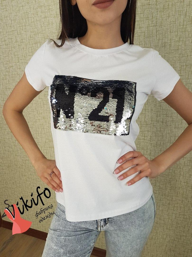"Крутая женская футболка ""21""в расцветках"