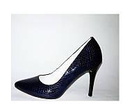Женские туфли на шпильке синие