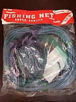 Рыболовная сеть финка: 50, 55, 60 мм ячейка, одностенная, 1,5х30 м шнур поплавок и груз