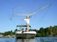 Рыболовная сеть Парашют, бросковая, кастинговая, испанского типа, нить, диаметр 4 м, высота 3 м