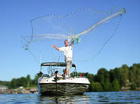 Кастинговая рыболовная сеть парашют американского типа, диаметр 4 м, высота 3 м, леска, одностенная