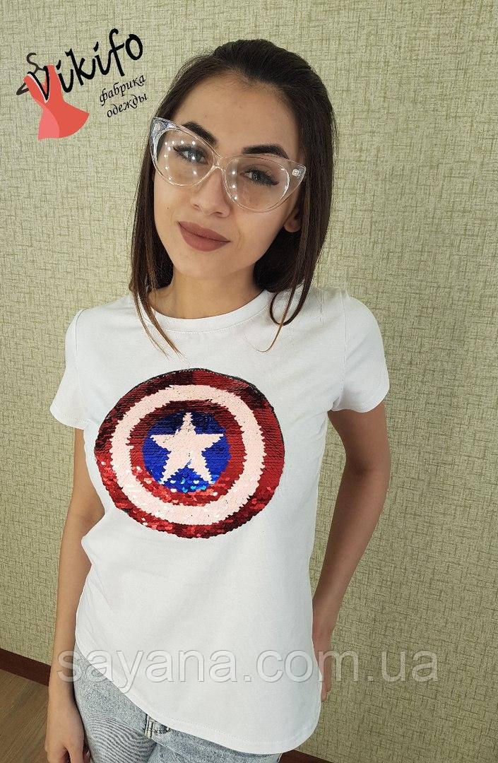 Модная женская футболка,в расцветках