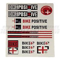 Наклейки вело (набор непрозрачные) BikePositive 30х21,5см