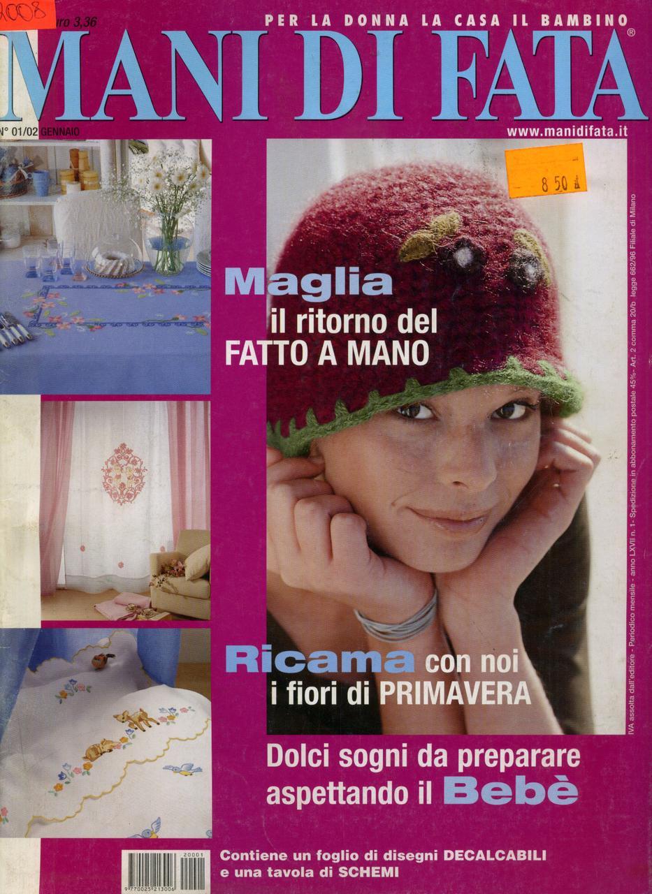 """Журнал по рукоделию """"MANI DI FATA""""  январь 2002"""