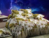 Постельное белье Цветение вишни евро и двухспальное