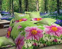 Постельное белье Цветочное поле  евро и двухспальное