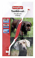 Зубная щетка двойная для ухода за зубами собак всех пород