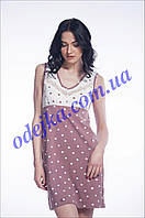 Домашнее платье, сорочка женская LND 019/002 (ELLEN). Коллекция весна-лето 2017! Спешите быть первыми!