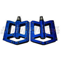Педали велосипедные алюминиевые, на промподшипнике, mod:510 (#MD) TAIWAN цвет: синий (пара)