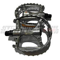 Педали велосипедные алюминиевые, mod:894 (#MD) цвет: серебристый (пара)