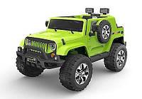 Детский электромобиль Джип Внедорожник M 3445 EBLR-5, EVA колёса, кожа, зелёный