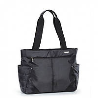 Сумка Dolly 471 черная женская классическая текстильная один отдел 37см х 26см х 15см