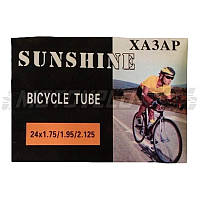 "Камера велосипедная 24х1.75/1.95/2.125 ""SUNSHINE"""
