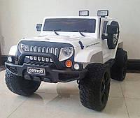 Детский электромобиль Джип Внедорожник M 3445 EBLR-1, EVA колёса, кожа, белый