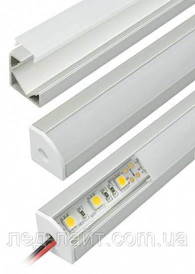 Профиль алюминиевый угловой для светодиодной подсветки