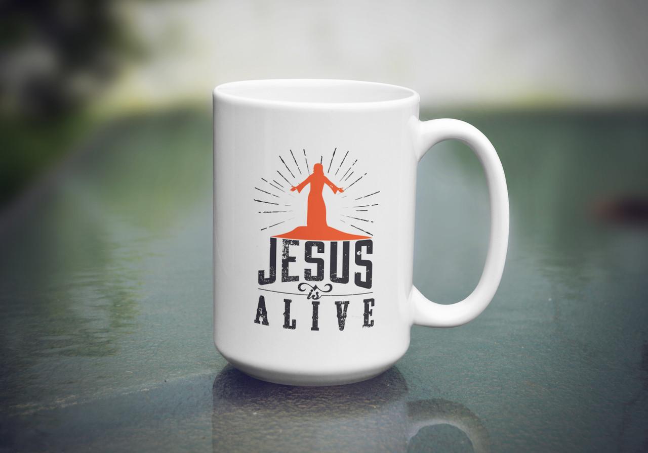 """Кружка """"Jesus is alive"""", 425 мл"""