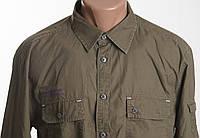 Jack and Jones рубашка ХАКИ  д/р размер М ПОГ 57 см  б/у