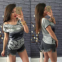 Красивая женская футболка - блуза, 4333