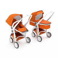 Greentom - Детская коляска Upp 2 в 1, цвет оранжевый - белое шасси