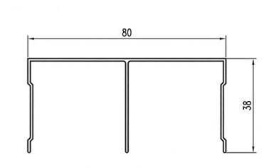 Направляющий профиль купе двойной верхний SLIPP , фото 2