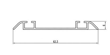 Ходовой профиль купе двойной SLIPP, фото 2