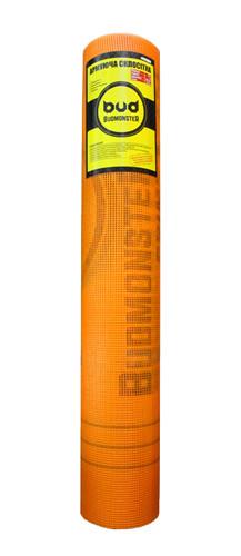 Сетка фасадная штукатурная Будмонстр оранжевая 145грм/м.кв. 5мм*5мм (50кв.м) строительная стеклотканевая армир