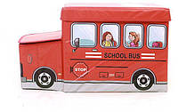 Детский пуф УкрОселя Автобус красный (BOC078664)