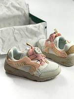 Кроссовки женские Puma Disk Blaze 15062 бело-розовые