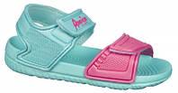 Детские пляжные босоножки American club из EVA пены цвет мята-фуксия р.30,31,32,33,34,35 стильным девочкам