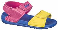 Детские пляжные босоножки American club из EVA пены цвет фуксия-желтый р.24,25,26,27,28,29 стильным девочкам