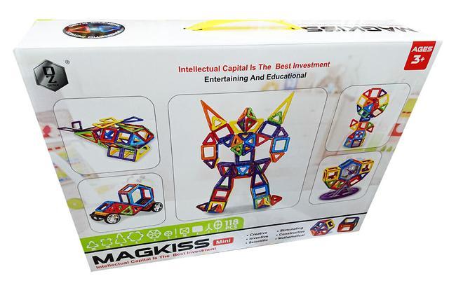 Детский магнитный конструктор Magkiss Mini HD343A
